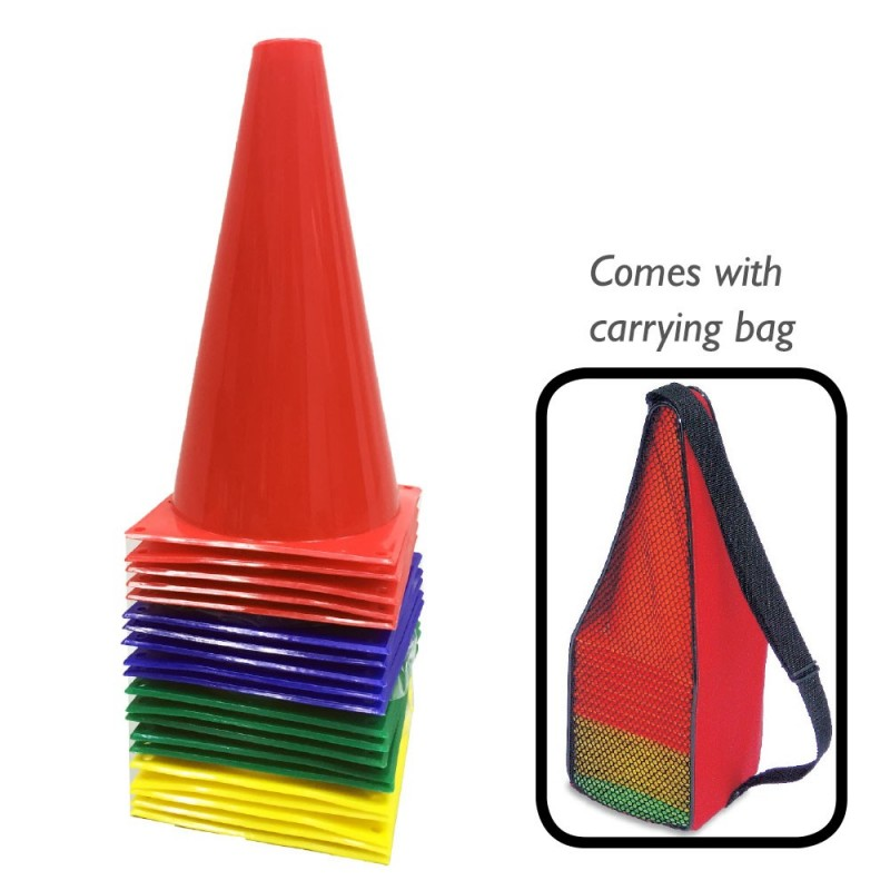 """Sports Cones 9""""/23cm (Set of 20 in a Bag)"""