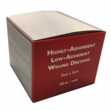 Highly Absorbent Low Adherent Wound Dressing 5cm x 5cm