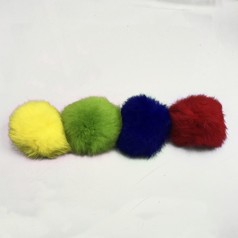 Furry Balls in a Bucket (Set of 12)