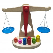 Wooden Balancing Scale